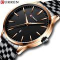Часы мужские  новинка  CURREN  брендовые часы  модные  бизнес  наручные часы с автоматической датой  часы из нержавеющей стали  мужские  повседне...