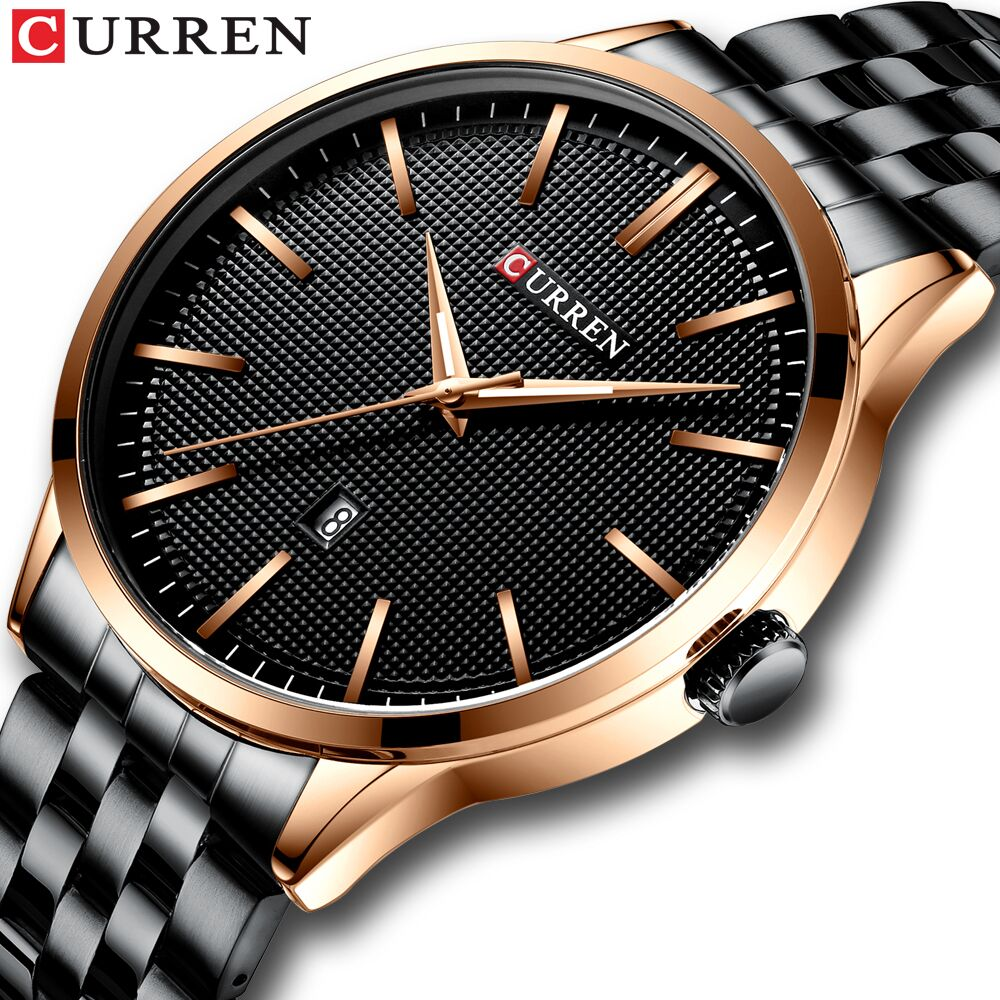 Watch Man New CURREN Brand Watches Fashion Business Wristwatch With Auto Date Stainless Steel Clock Men's Casual Style Reloj