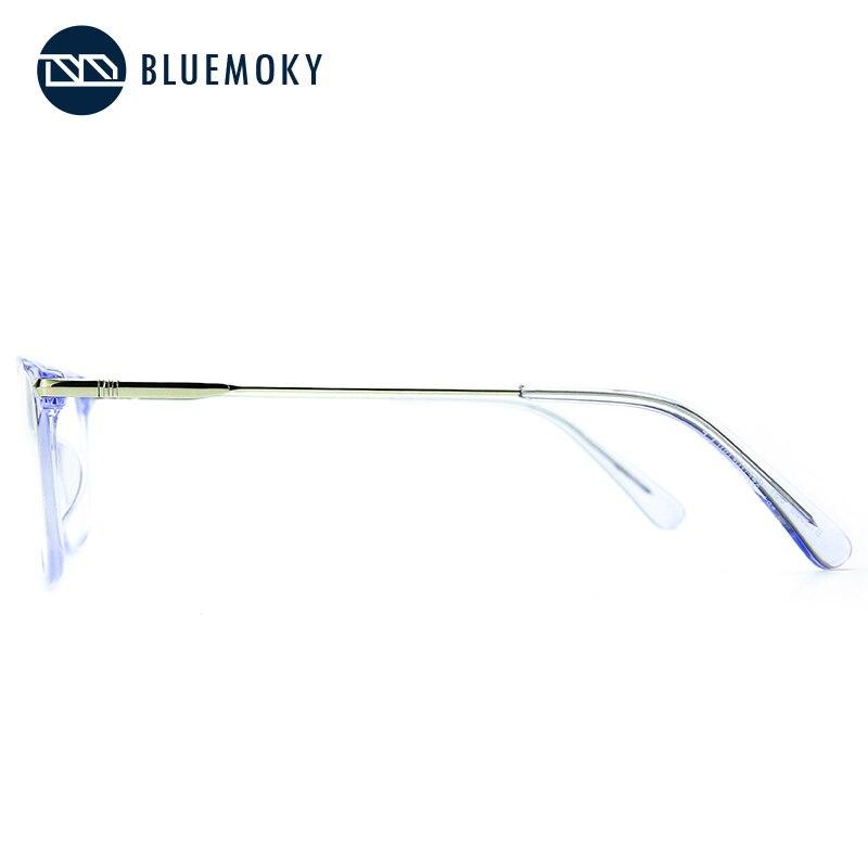 Image 4 - BLUEMOKY Prescription Glasses Frame for Women Optical Myopia Eyewear Eyeglasses Frame Women Clear Lens Rectangular Fake Glasses-in Women's Eyewear Frames from Apparel Accessories