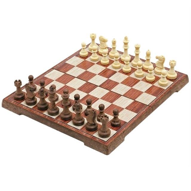 Tableau magnétique tournoi voyage Portable jeu d'échecs nouveau échecs plié conseil International magnétique jeu d'échecs jouant cadeau S 1