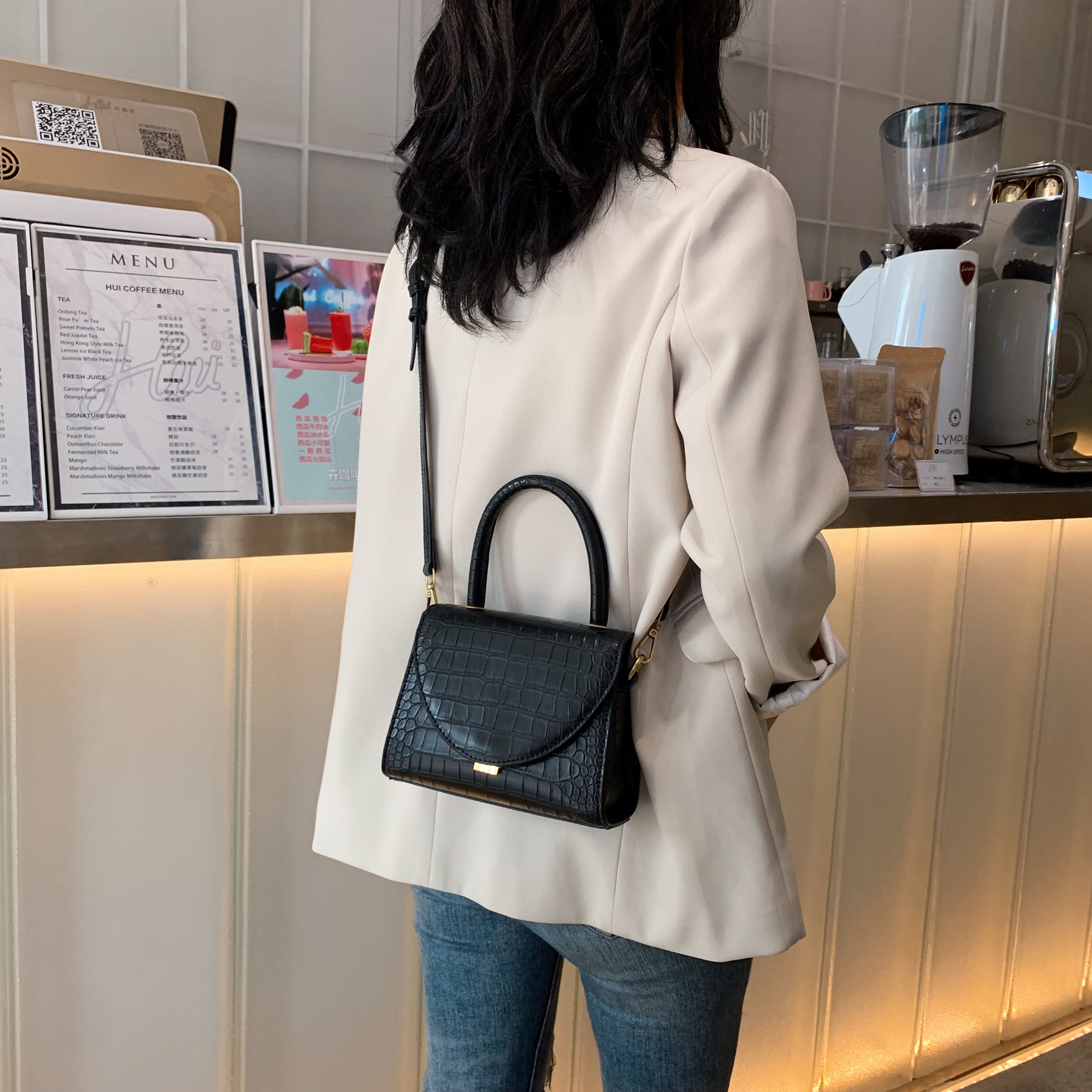 Image 4 - Stone Pattern PU Leather Crossbody Bags For Women 2019 Luxury Quality Shoulder Messenger Bag Lady Designer Handbags Totes-in Top-Handle Bags from Luggage & Bags
