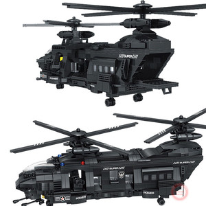 Image 2 - 新 1351 個ミリタリー玩具市輸送ヘリコプター警察フィットlepining swatチームビルディングブロックレンガフィギュアの子供のギフト子供