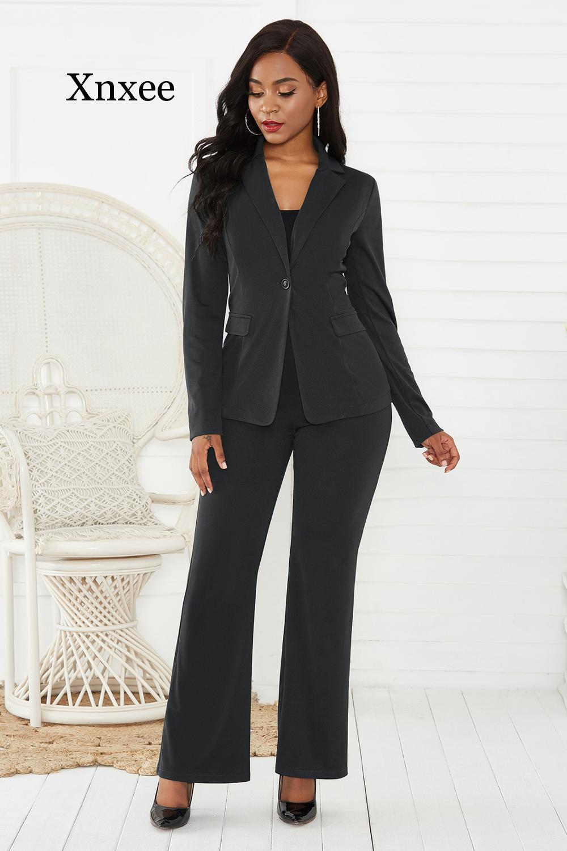 Africa Style Women's Suit Office Two Piece Set Long Sleeve Suit Pants 2 Piece Set Female Winter Two Pieces Sets Office Female