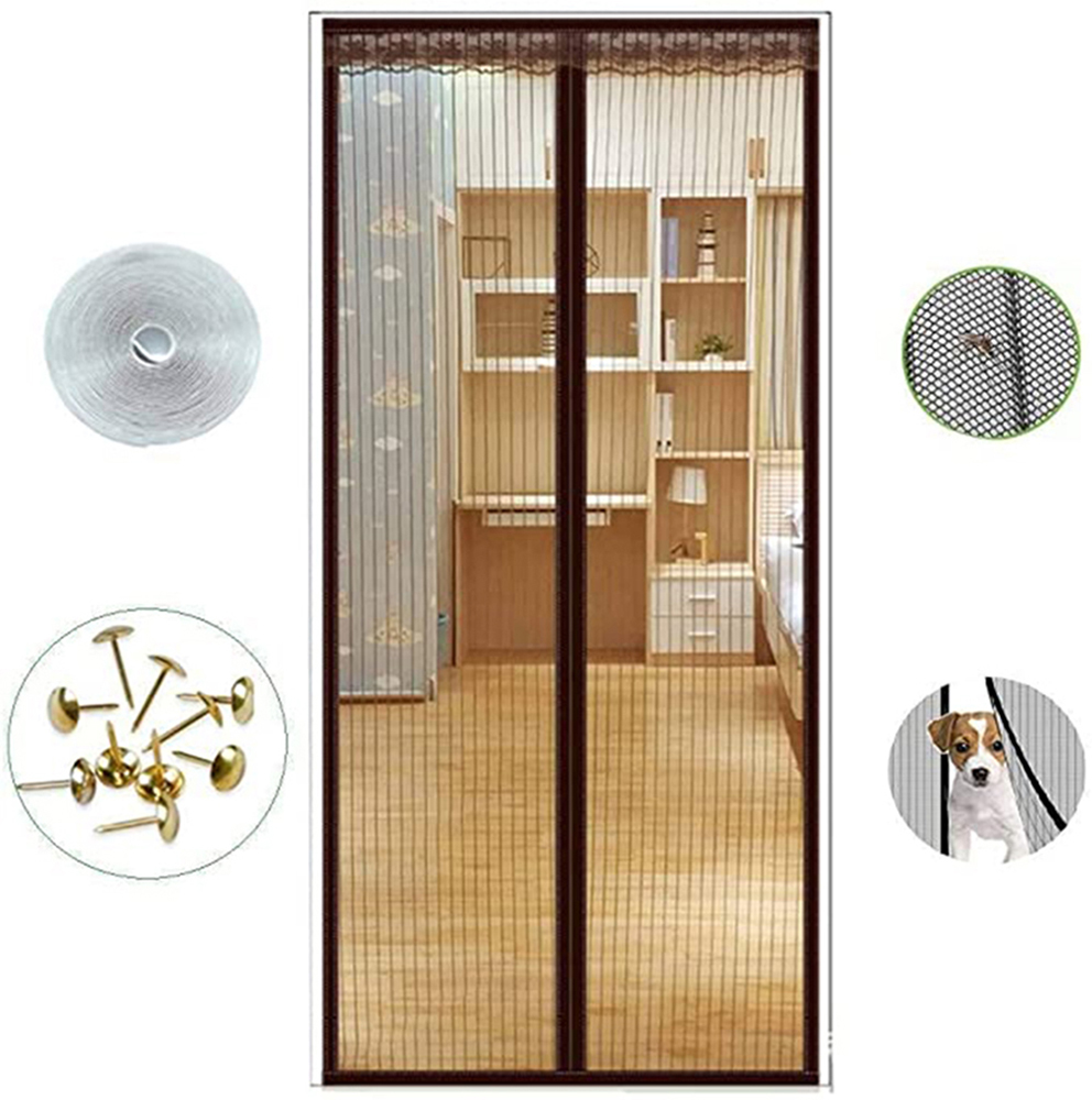 Anti Mosquito Insect Fly Bug Curtains Magnetic Net Mesh Automatic Closing Door Screen Kitchen Curtain Mesh For Door