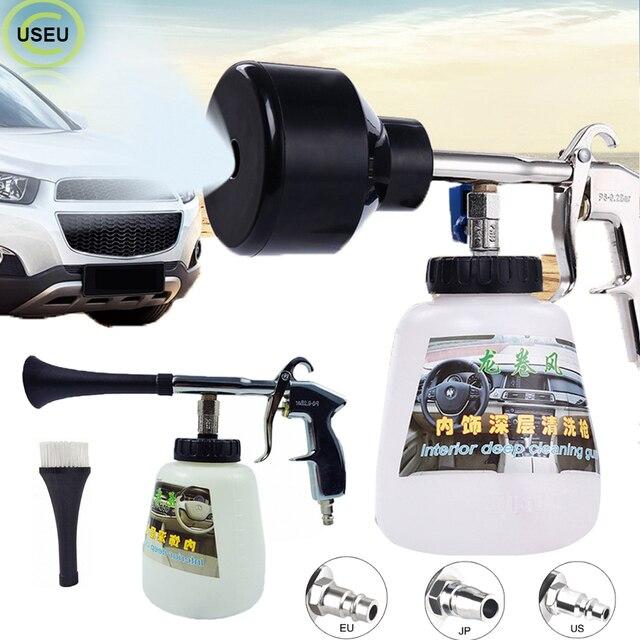 USEU Auto Reinigung Hochdruck Schaum Pistole Fahrzeug Innen Reiniger Tornado Werkzeug Auto Waschen Schnee Foam Lance Mit Einstellen Spray düse