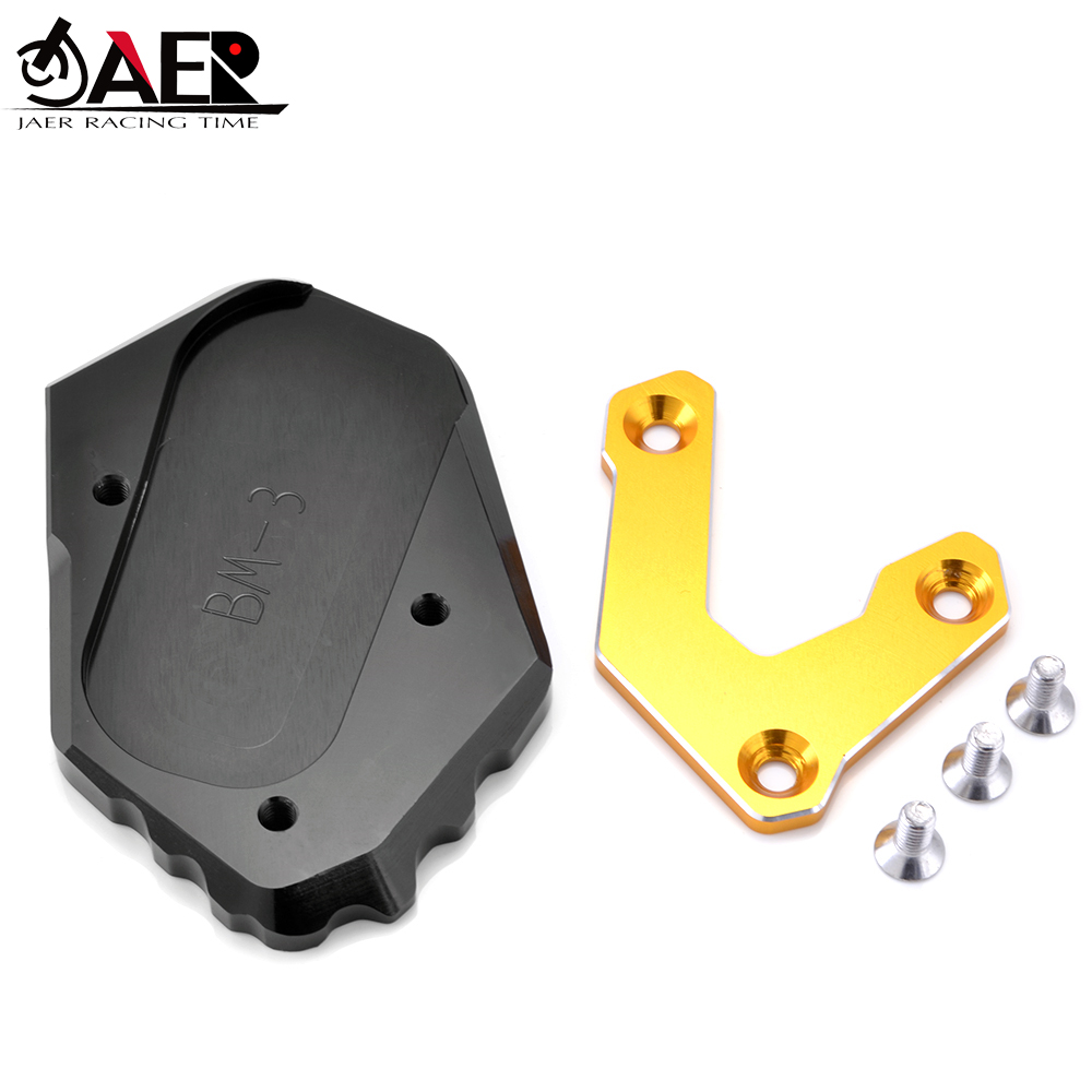 JAER CNC Kickstand Extension <font><b>Moto</b></font> Side Stand Plate Pad Enlarge For <font><b>BMW</b></font> R1200GS <font><b>LC</b></font> R <font><b>1200</b></font> <font><b>GS</b></font> <font><b>LC</b></font> 2013 - 2016 R1200 <font><b>GS</b></font> <font><b>LC</b></font> Adv image