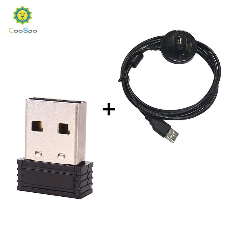 CooSpo ANT + clé USB adaptateur USB ANT + transmetteur capteur TrainerRoad pour mettre à niveau vélo formateur pour Garmin Zwift Wahoo Bkool