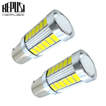 2x 1156 BA15S P21W Reverse Backup light Front Rear Turn Signal Lamp DRL Car Tail bulb For Hyundai Elantra Azera Accent White 12V