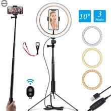 10 Selfie Ring Lamp Led Ring Light Selfie with Tripod Ring for Selfie Phone Video Photography Lighting for Youtube Phone Holder фонарь aceshley led cелфи кольцо aceshley selfie ring light
