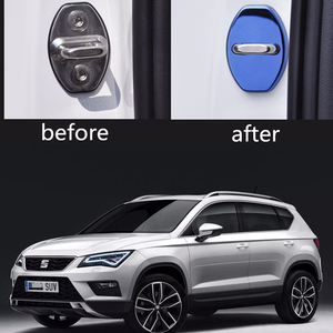 4PCS/lot Car Styling Car Accessories Stainless Steel Door Lock Protective Cover For Seat Ateca/Ateca FR 2016 2017 2018 2019