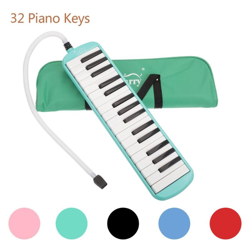 Glarry 32 Keys Keyboard Melodica Kit Piano Style Melodic Accordions For Student Chliden Education With Bag Music Instrument