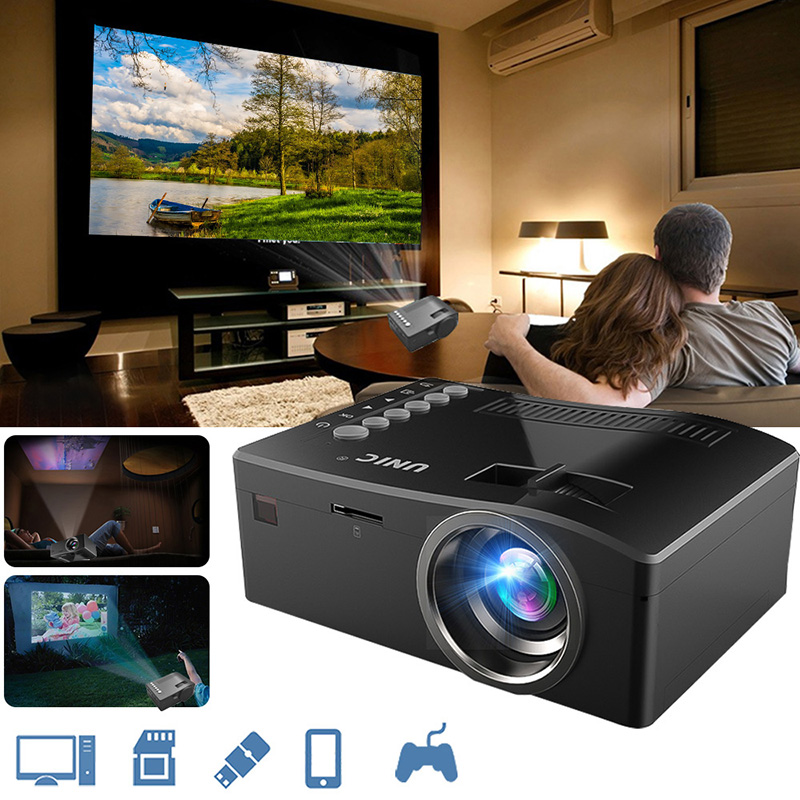 Mini Portable Projector 1080P Video proyector With LED Lamp For Mobile Phone Home Cinema Theater TV Smart