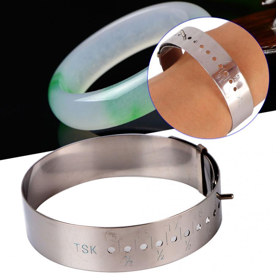 Metal Bracelet Bangle Gauge Sizer Jewelry Measure Wrist Size Tool 15-23cm Plastic Measure Bracelet