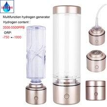 IHOOOH-botella de agua nanómetro rico en hidrógeno, membrana de iones electróticos SPE, portátil, multifuncional, generador H2 alcalino