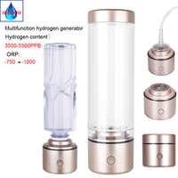 High Hydrogen rich Nanometre water bottle SPE Electrolytic ion membrane Portable multifunctional H2 hydrogen generator IHOOOH