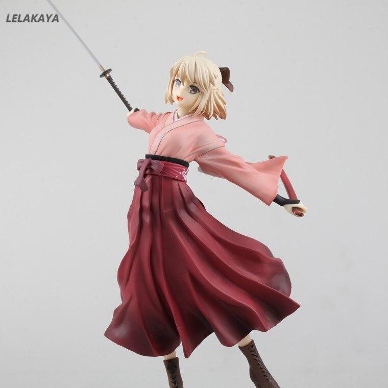 Anime Fate//Grand Order Okita Souji Saber Action PVC Figure New Box 22cm
