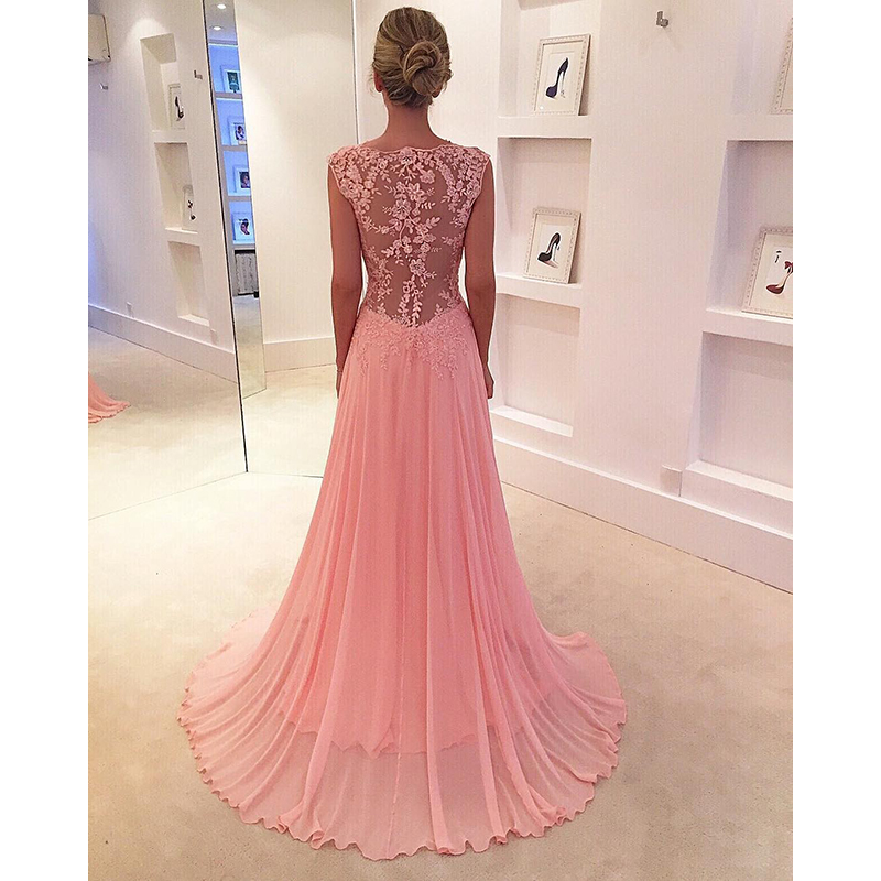 Elegant Black Long   Prom     Dress   2018 with Spaghetti Straps V-neck Slit Sexy Formal Gown Ruffles Satin Long Evening Party Gown