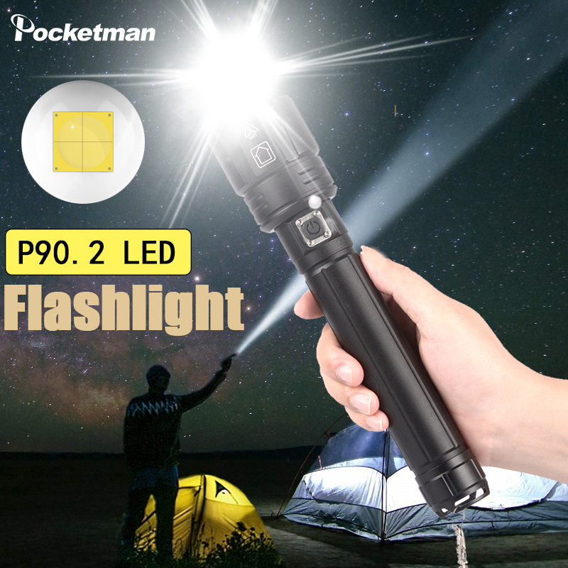 4 Driver XHP90.2 Super Powerful 26650 <font><b>LED</b></font> Flashlight XLamp USB Rechargeable XHP70.2 Hunting <font><b>Light</b></font> 18650 Zoomable Camping <font><b>Torch</b></font> image