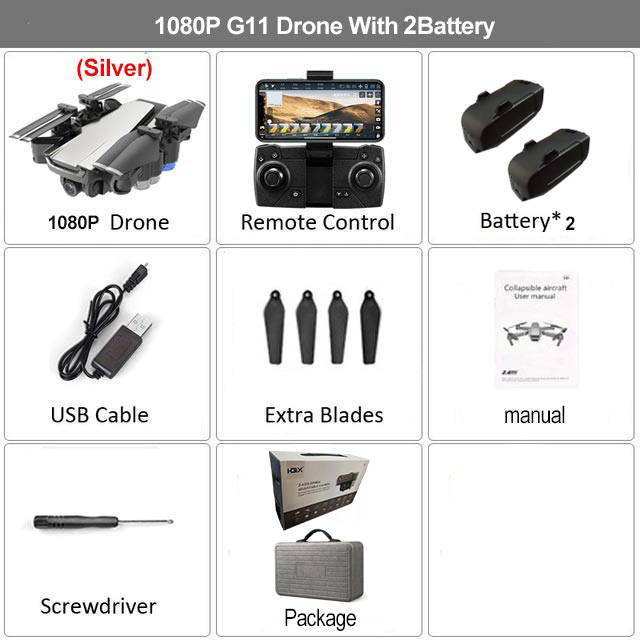 HGIYI G11 GPS RC Drone 4K HD Camera Quadcopter WIFI FPV With 50 Times Zoom Foldable Helicopter Professional Drones Optical Flow