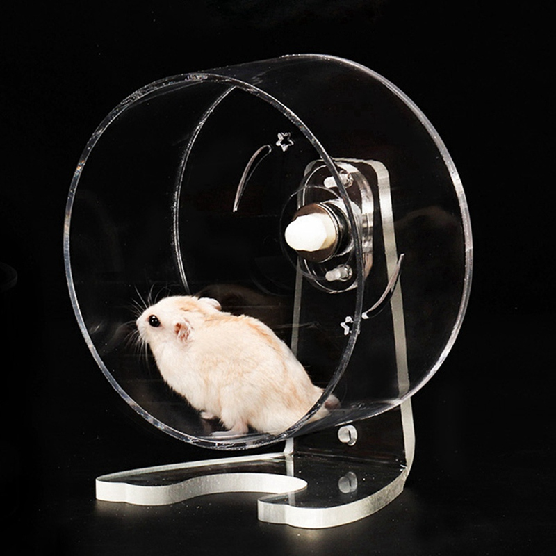Hamster Running Wheel Acrylic Transparent Treadmill Wheel Squirrel Chinchilla Rotatable Running Wheel Hedgehog Training Pet Toy