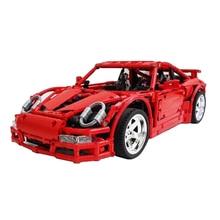 Building Blocks Technic Porsche-997 GT3 Super Racing Car Model technic Children Toys Bricks Christmas Gift