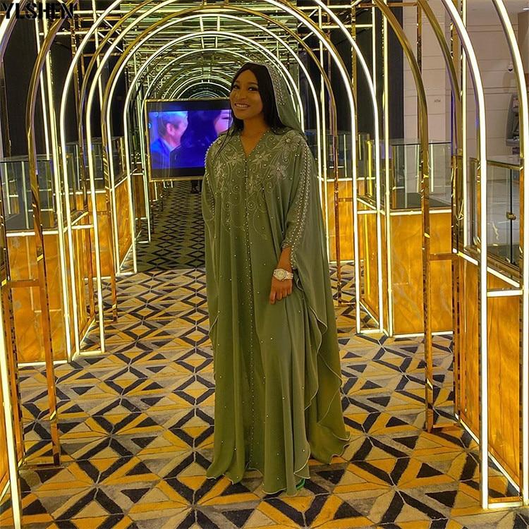 Length 150cm Africa Dress African Dresses for Women Dashiki Diamond Beaded Traditional Boubou African Clothes Abaya Muslim Dress 08