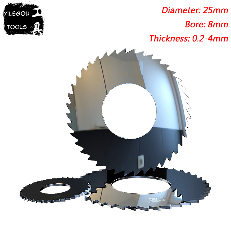 25mm Tungsten Steel Milling Cutter 25x8mmx40T Solid Tungsten Carbide Circular Saw Blade Cut Stainless Steel, Thickness 0.2-4mm