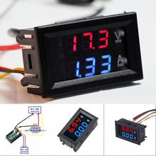 Cyfrowy woltomierz do prądu stałego LED 100V 10A woltomierz amperomierz niebieski czerwony wyświetlacz Amp nowość tanie tanio Ładowarka Akcesoria CN (pochodzenie) DC 0 - 100V 1x DC 100V 10A Voltmeter Ammeter
