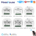 MoesHouse Smart ZigBee WiFi Schalter Modul Dimmer Vorhang Schalter Smart Leben App Fernbedienung Alexa Google Startseite Voice Control
