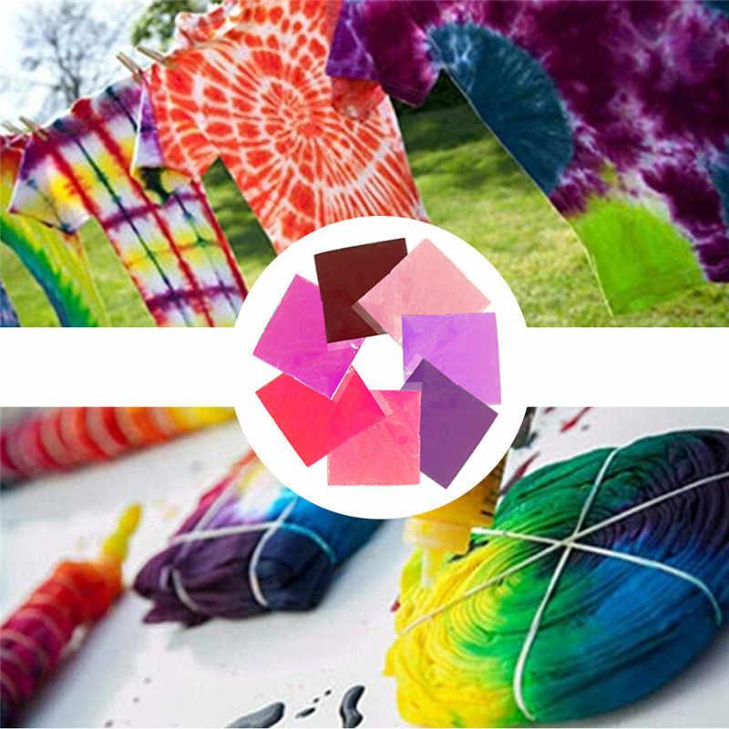 7pcs צבעוני בגדי צביעה אבקת פיגמנט סט DIY בגד גרפיטי בד טקסטיל צבע עניבה לצבוע ערכת