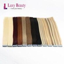 """Lucybeauty лента для наращивания волос человеческие волосы Remy Прямые двухсторонние волосы на клейкой основе 1""""-22"""" 1,5 г/шт"""