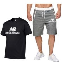 Men's Sets 2 Piece T Shirt Sweatpants Track Suit Shorts Jogger Sets Casual Tracksuit Men Sportswear Set Brand Clothing