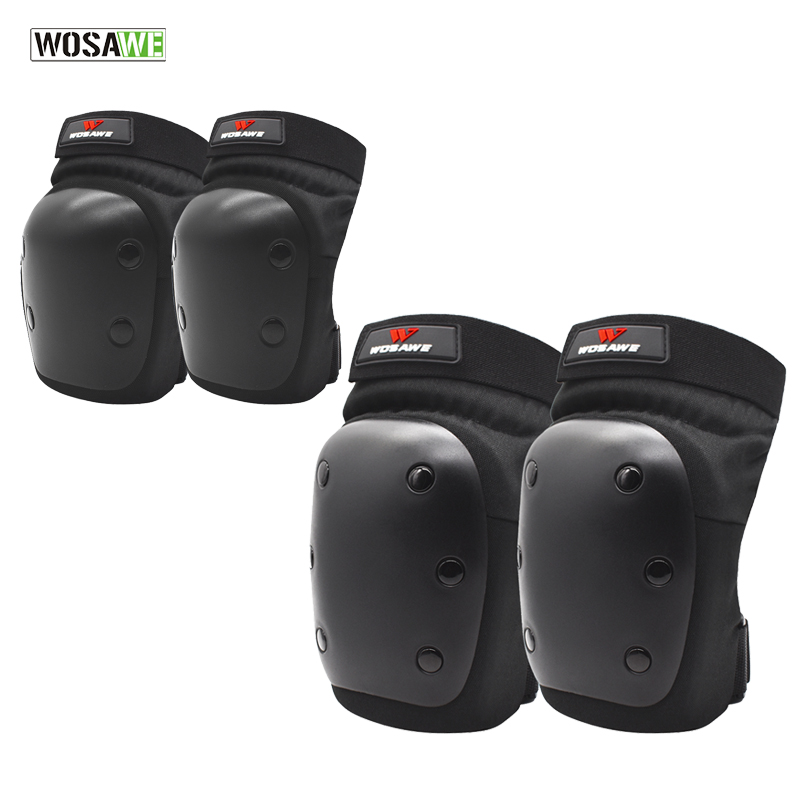 WOSAWE 4pcs Elbow and Knee Protector PP Shell Knee Brace Support Joelheira Knee Pads For Volleyball Roller Skating Snowboarding