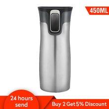 450ミリリットル魔法瓶旅行サーモボトルgarrafa termica魔法瓶カフェカップタンブラー水ボトルステンレス鋼のマグコーヒーカップ