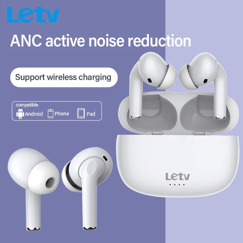 Letv уши Pro Беспроводной Bluetooth наушники ANC Active Шум шумоподавлениеспц наушники-вкладыши с микрофоном Gaming Headset Беспроводной зарядки