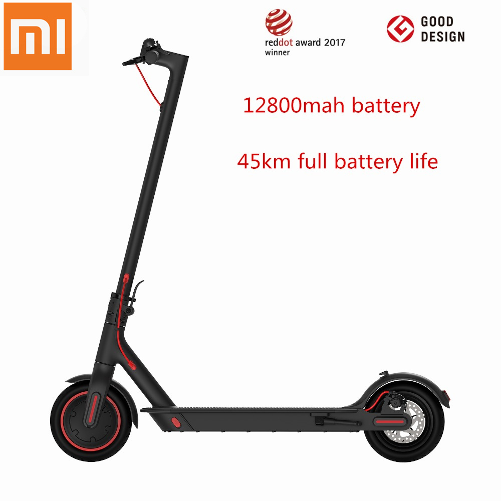 Original Xiaomi Mijia Pro Hoverboard Smart Electric Scooter foldable Mi skateboard KickScooter 45KM APP 12800mAH Battery