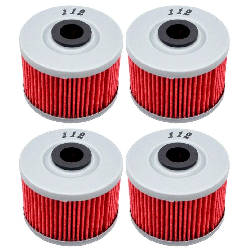 4pcs Oil Filter For HONDA XLX 250 XLX250 1983 1984 XR250 SUPER 250 1997-2004 XR250L XR 250L 1991-1999 XR2500R 1982-2004