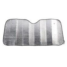 Защитная крышка для лобового стекла автомобиля из алюминиевой фольги, складная Защитная крышка для переднего окна 130*60 см