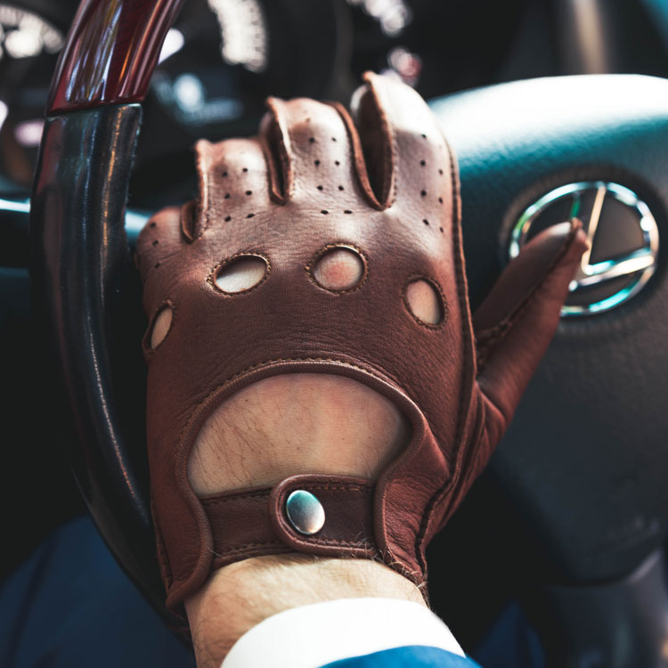 Free Shipping Harssidanzar Mens Leather Driving Gloves Unlined