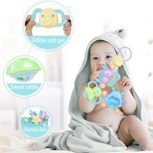 Прорезыватель с погремушкой комплект Детские игрушки для новорожденных игрушка-пазл для раннего развития для режущихся зубов для От 0 до 1 года для малышей