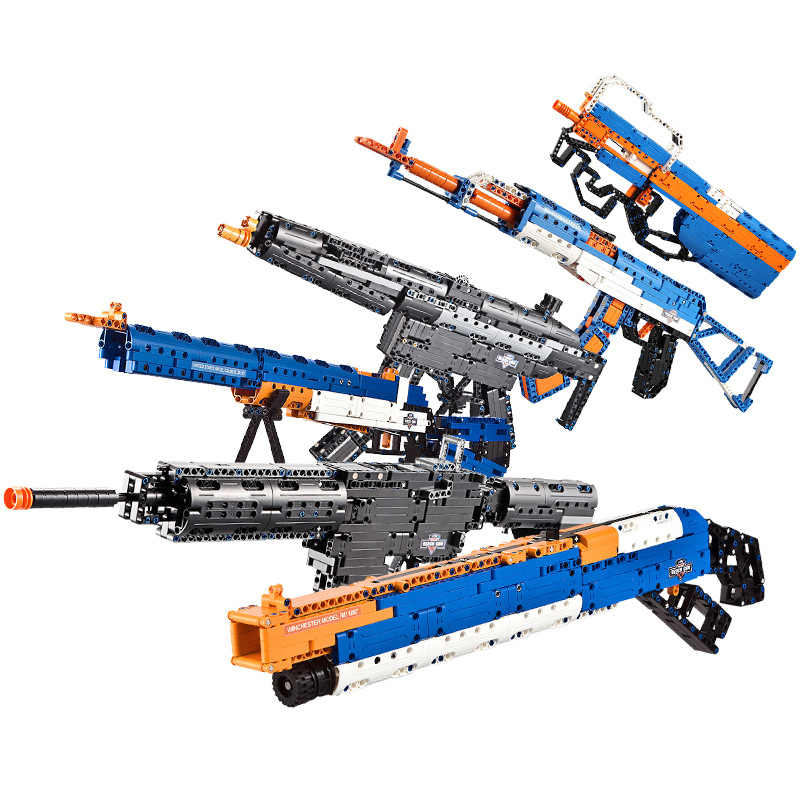 NEW Legoings AK47 Sniper Rifle Pistol Desert Eagle Model Building Blocks Children Boys Assemble Toys Bricks Guns Packs Weapons