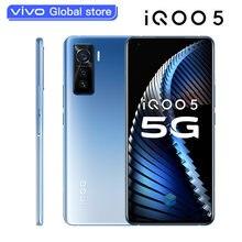 Vivo-teléfono inteligente iQOO 5 Original, 12GB, 128GB, Snapdragon 865, 5G, 4500mAh, 55W, 120Hz, frecuencia de actualización, cámaras triples de 50.0MP
