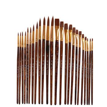 12 sztuk zestaw nylonowe włosy akwarela szczotki inny kształt okrągły zwykły końcówki gwasz zestaw pędzli malarskich dostaw sztuki tanie i dobre opinie CN (pochodzenie) Pędzel do akwareli 8 lat