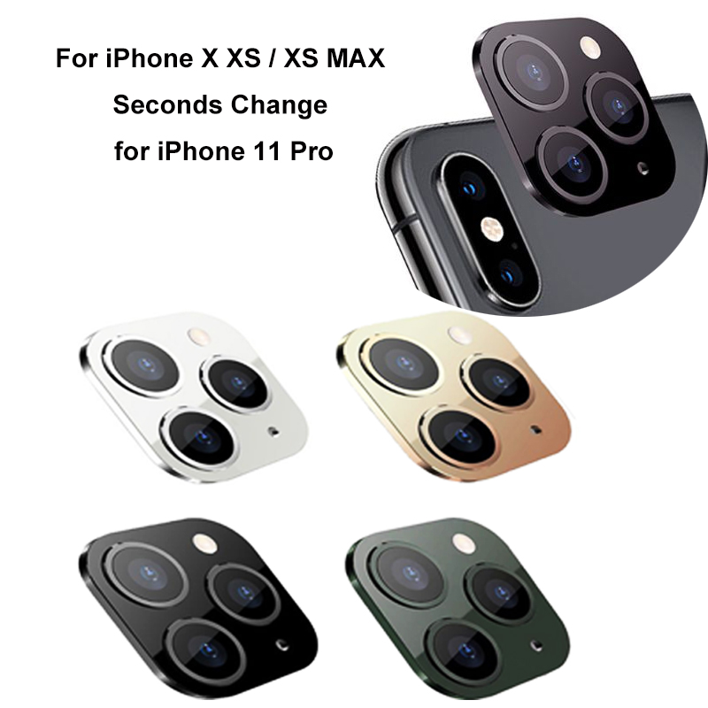 For IPhone X XS / XS MAX Seconds Change For IPhone 11 Pro High Quality Camera Lens Cover New 2.6x2.7x0.3cm