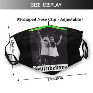 Image 2 - Ftp Mouth Face Mask Suicideboys FTP Facial Mask Funny Fashion with 2 Filters for Adult