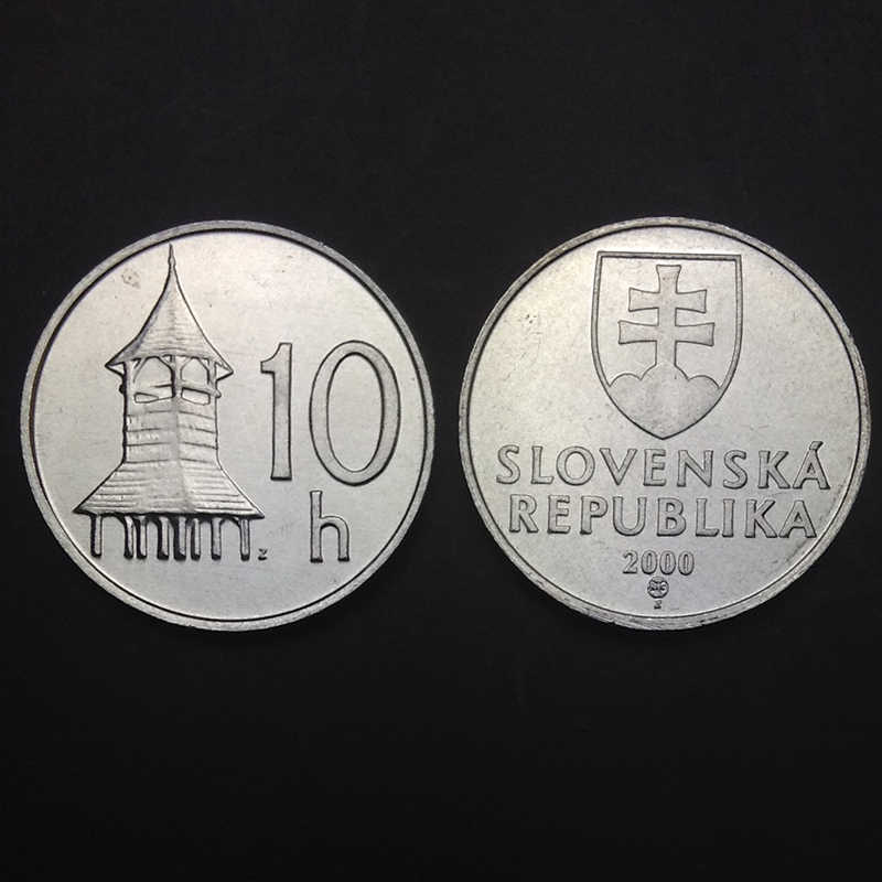 Slovakia 10 Helle 2000 100% Real Genuine Original Coin Comemorative Coin Collection Rare Unc