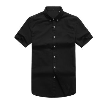 high quality homme classic crocodile shirts camisa masculina Men short Sleeve Dress Shirts 100%Cotton hombre chemises цена 2017