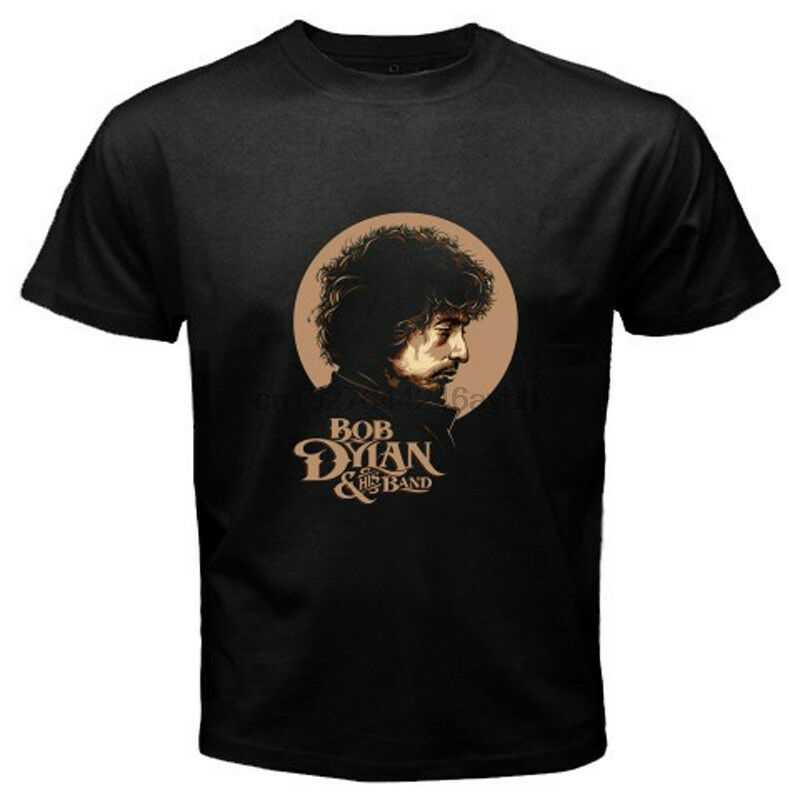 Nowy bob dylan i jego zespół Rock ikona legenda męska czarna koszulka rozmiar S-5xl