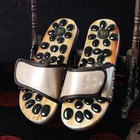 Foot Massager Massage Acupuncture Cobblestone Lovers Sandals Reflexology Pebble Stone Health Care Shoes Summer
