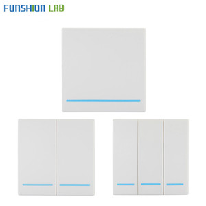 Image 2 - FUNSHION 433 Mhz Wireless RF Wall Panel Transmitter RF AC 110V 220V 1 CH Remote Control Switch Receiver For Hall Bedroom Lights